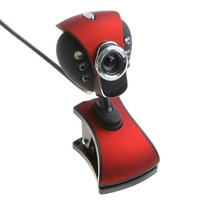 6 LED PC Camera HD Webcam Camera Web Cam with MIC for Computer PC Laptop with Retail Package