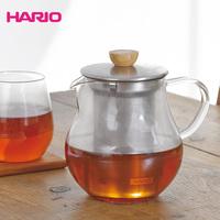 Hario pear heat resistant glass teapot belt stainless steel colander flower pot tpc-45hsv
