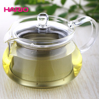 Hario - heat-resistant glass teapot stainless steel circle colander tea pot herbal tea chm-45t