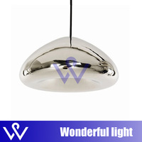 small Dia 18cm silver color bowl bar table pendant light glass lamps Tom Dixon void lamp Void Light modern lamp Suspension