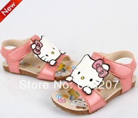 new 2014 Free shipping US 7~9 pink and red hello kitty summer girls sandals kids children boots shoes Top sale