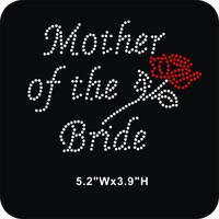 DHL Free shipping 45pcs/Lot  Wholesale mother of the bride iron on rhinestone transfer