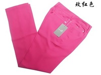Free shipping Women's trousers female trousers khaki rose elastic