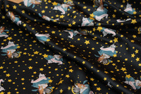 Free shipping Starry Night Goddess Series 100%  Silk Satin Garment Fabric Dress cloth.