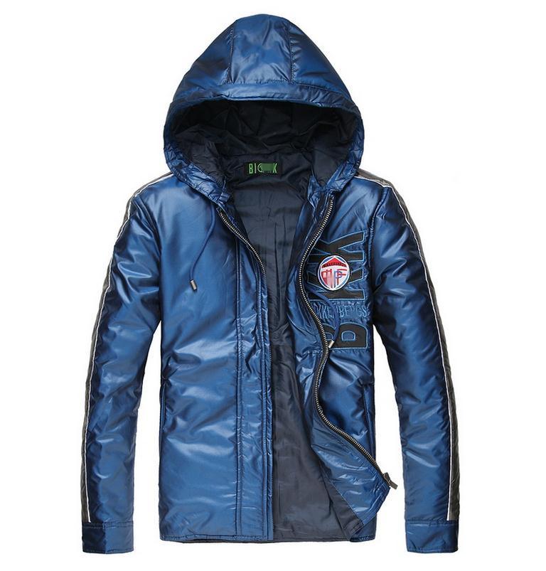 Free shipping 2014 brand dirk bikkembergs Mens Hooded Jackets BIKK coat sports warm Down European and American fashion coat(China (Mainland))