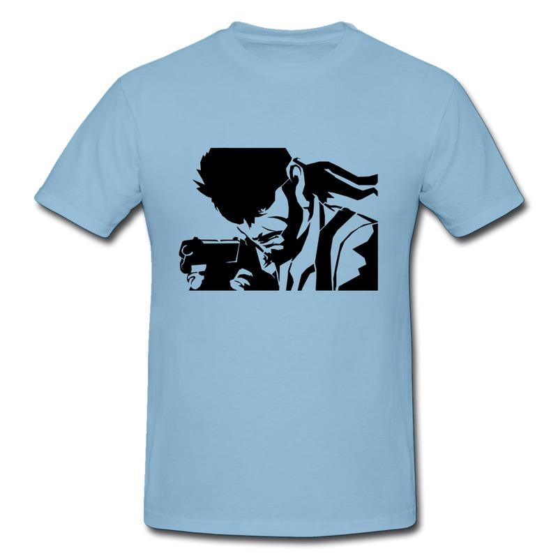 Man T Shirt Pre-Cotton Cartoon drawing of a terrorist with a gun Print Own Regular Style T for Man(China (Mainland))