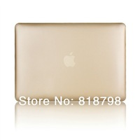 """For Macbook Pro13"""" Pro15""""Case(not Retina),Matt Frosted Rubberized Gold Cover Laptop Protective Hard Case Golden Bag Backpack"""