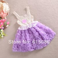 Girls party dress,Girls floral dress,Baby clothes,baby dress,kids dress,5 pcs/lot!