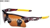 free shipping brand new men and women Unisex sports sunglasses fashion Mirror windproof cycling sunglass driving Dark glasses