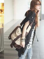 Free shipping ! Wholesale! The new 2014 portable oblique cross women canvas bag,  versatile handbag-wj