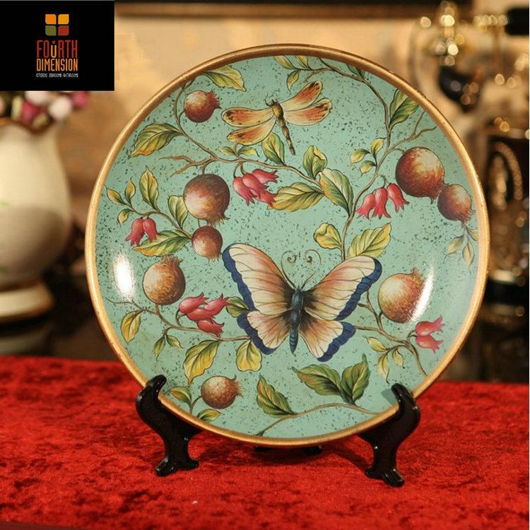 Online kopen wholesale keramische antieke beschilderde borden uit china keramische antieke - Decoratieve platen ...