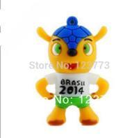 2014 New fashion usb flash drive pendrive cartoon mascot model usb 2.0 memory stick thumb pen drive freeshipping 4- 32GB