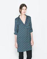 2014 spring new European and American style retro print satin strappy dress ;  chiffon dresses ; vestidos de festa ; ropa mujer