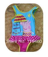 PEPPA PIG  swimwears children swimsuits baby girls kids bikini swimwears beach wears 11pcs Free Shipping