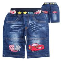 child denim shorts,2014 summer children's brand jeans shorts,new arrival boys fashion denim Cars2 short ,free shipping hot sale