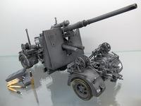 1/18 World war ii German 88 mm anti-aircraft gun,artificial professional painting