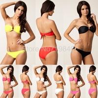 2014 Summer Women beach Sexy Brand High-grade nylon poly chest Bikini swimwear swimsuit DM056