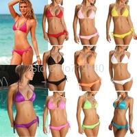 Swimwear Women  New 2014 Sexy Beach    Bikinis Set Bikini Bottom Swimsuit Push Up DM004
