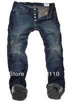 W29-W40#L34#GC8957,New 2014 Italian Fashion Famous Brand Men's Jeans,Plus Size Designer Straight Denim Slim Fit Ripped Jeans Men