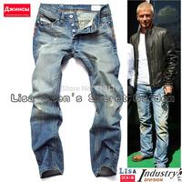 W29-W40#L34#827,New 2014 Italian Fashion Famous Brand Men's Jeans,Plus Size Designer Straight Denim Slim Fit Ripped Jeans Men