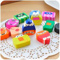 Free shipping wholesale 150 pieces/lot cute cartoon animal children pencil eraser puppet novelty erasers school stuff
