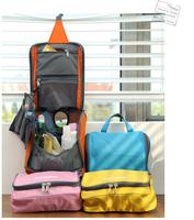 Fashion multifunction Travel Check Waterproof Storage Cosmetic Bag Picnic Sorting Hanging Wash Bag Korea Make Up Organizer bag
