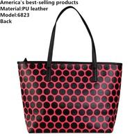 Michaell handbags women shoulder bags famous brand Hi-Q PU leather bags tote Dot bag Hit color printing bolsas feminina M-6823