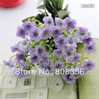 6pcs 27cm New Fashion Silk Simulation Artificial Lovely Milan Orchid Bush Bouquet Wedding & Home Decoration