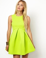 Spring 2014 Dress Za Women Wholesale High Quality Candy-Colored Dress With Paragraph Sheds Free Shipping