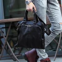 2014 Fashion men business shoulder messenger male bags for men vintage tote handbag bag men black brown color high quality
