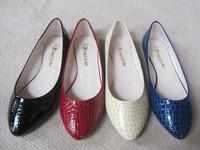 Fashion women stone pattern pointed toe flat heel single shoes plus size 40 - 43 small yards shoes 30 - 33