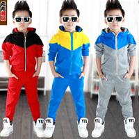 Children's clothing male child set 2014 spring and autumn boy big boy child sportswear