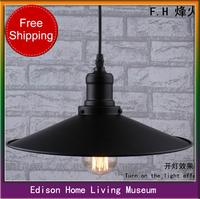 Nordic American Iron Edison IKEA industrial warehouse retro rustic little black chandelier chandelier shipping