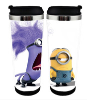 Excellent  quality Despicable Me double wall stainless mug cups, leakproof sealed travel drinking bottles, thermos cartoon cups