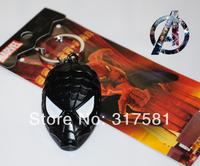 Movie Hero keychain Wholesale, metal jewelry , ornaments, Spider-Man mask Keychain
