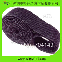 """3/4"""" Inch Roll Velcro one wrap back to back fastening straps 5 yard black"""