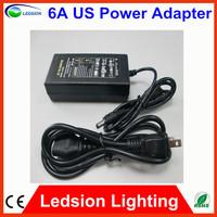 Free shipping AC 110V-240 to led strip DC 12v 6a 72w led transformer power supply unit adapter EU/AU Plug , 50/60 Hz 5.5x2.1mm