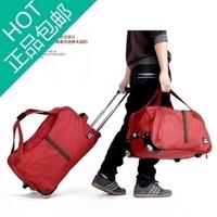 2014 trolley bag travel bag trolley luggage bag travel bag oxford fabric male Women