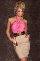 Fashion exquisite women's dl sleeveless strapless slim waist hip slim one-piece dress 2949