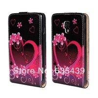2014 HOT NEW 1 pcs 1 style elegant luxury flower Noble concise Flip Leather Case For LG Optimus L7 II P710 p715 p713 + film