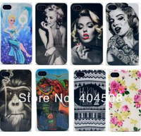 19 styles hard back IMD cover shell skin for iphone 5 5s tiger panda animal Frozen Marilyn Monroe cell phone mobile case 20pcs