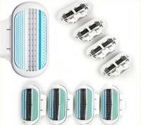 Free Shipping Sharpener Shaving Razor Blades for Women V 8S (100 Cartridges/pack) Best Quality, Free Shipping(V)
