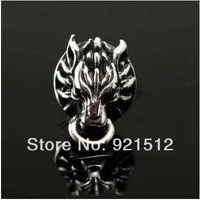Free Shipping 1pcs Final Fantasy 7 Cloud Wolf earrings, Sterling silver 925 , Stud earring With Gift Box, cosplay