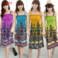 MOQ 2PCS 21colors Puls size 2014 Summer women's bohemia beach dress Wholesale Manufacturers supply Welcome wholesale seller