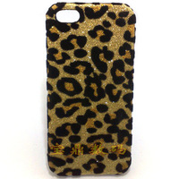 For iphone 5c mobile phone case for apple 5c shell phone leopard pattern protective cover for iphone 5c +free screen protector