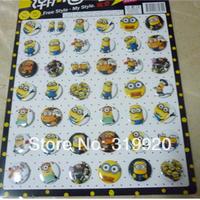 Despicable Me 2 BADGE yellow man Acrylic cartoon personality Fashion Badge popular students