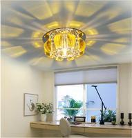 3W led Ceiling lamps for home living room light modern Crystal light fixtures AC85-265V luminaire lustres de cristal abajur