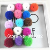 Handmade Fox fur ball mobile phone hair findings car key chain women's bags diy hair ball multicolor