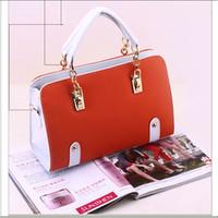 2014 women's pu leather handbag candy color handbags sale messenger bags pink orange green bag for women sac a main bolsas cymka