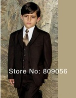 B142 baby coffee navy page boy suit Boy Wedding Suit Boys' Formal Occasion Attire Custom made suit tuxedo(jacket+pants+vest+tie)
